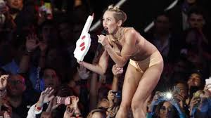 Singer Miley Cyrus twerks at the MTV awards