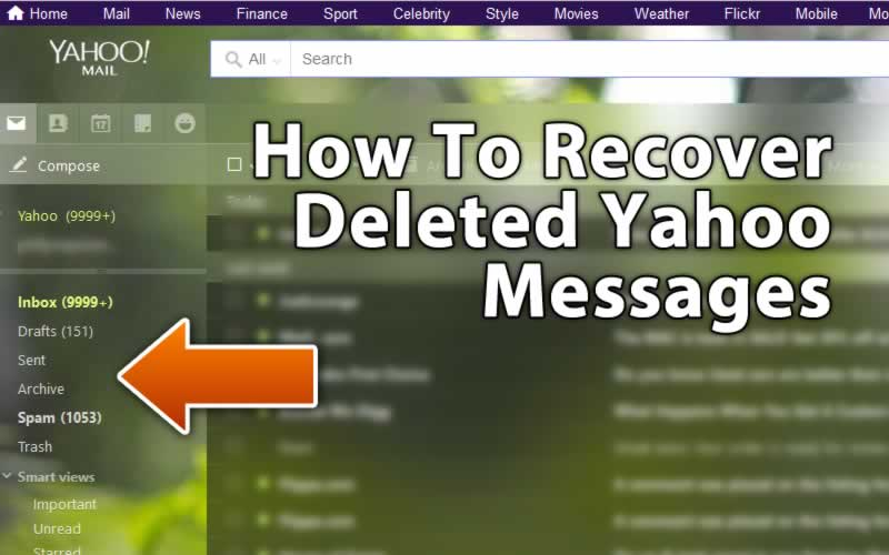 How to recover deleted yahoo email messages