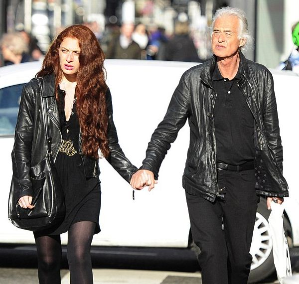 Jimmy Page and his young girlfriend Scarlett Sabet.