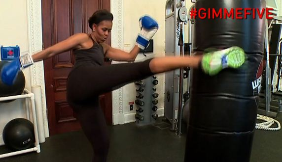 Michelle Obama Releases Video Of Herself Boxing - Hosbeg.com