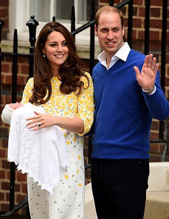 The royal baby girl with her mother The Duchess (Kate Middleton) and father Prince Williams.