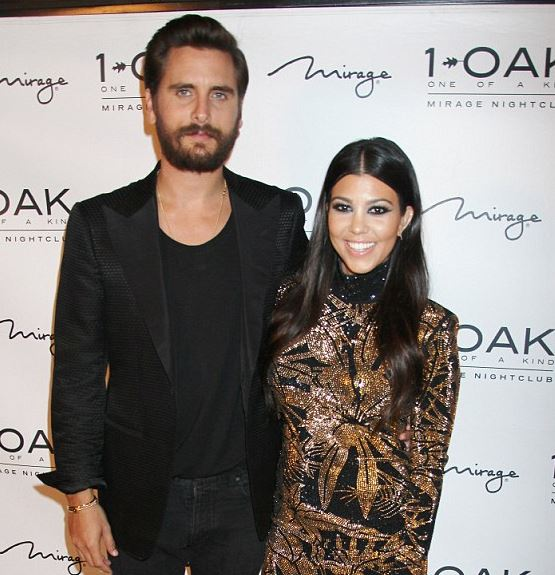 Scott Disick and Kourtney Kardashian in happier times.