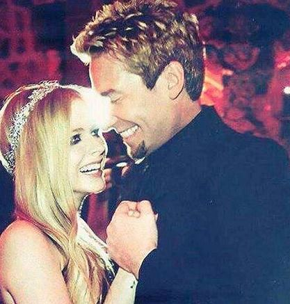 A picture of Avril Lavigne and Chad Kroeger taken on their wedding day on July 1, 2013 in France.
