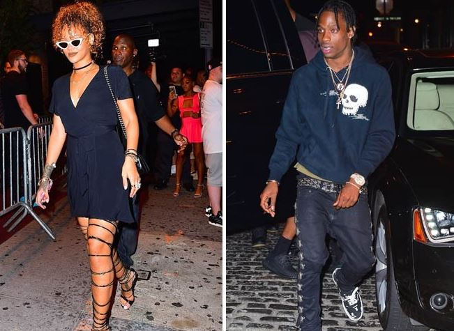 rihanna dating travis scott