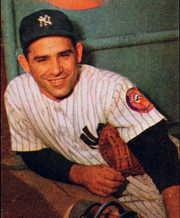 Yogi Berra in 1953 while playing for the New York Yankees.